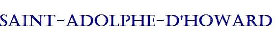SAINT-ADOLPHE D'HOWARD