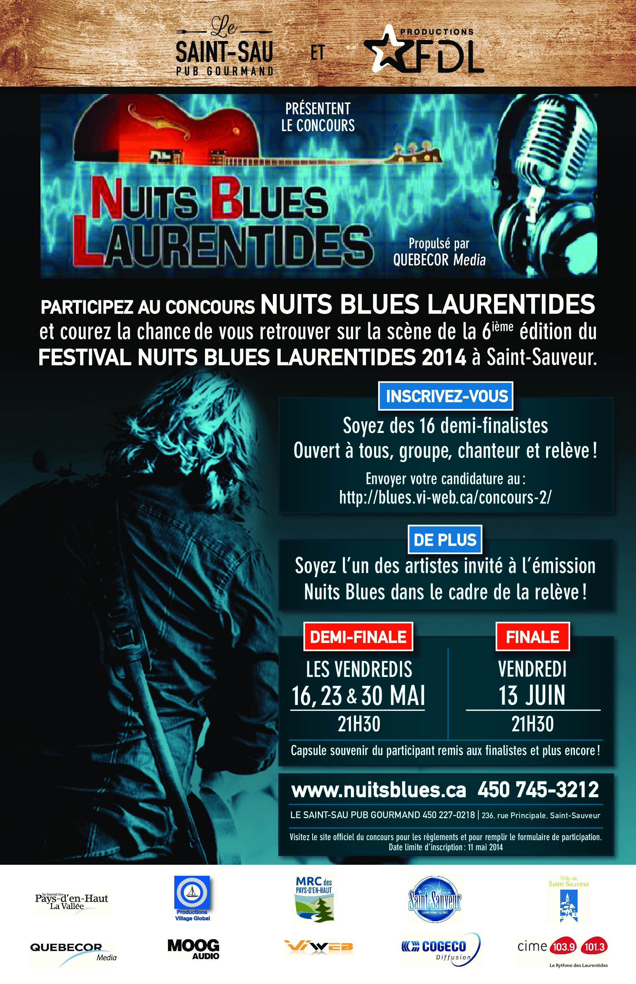 Affiche Concours Nuits Blues Finale 2
